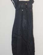40 włoska suknia 42 len lniana niepowtarzalna art