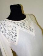42 44 L kremowa beżowa koronkowa bluzka Forewer21