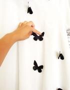 Tunika biała motylki koszula