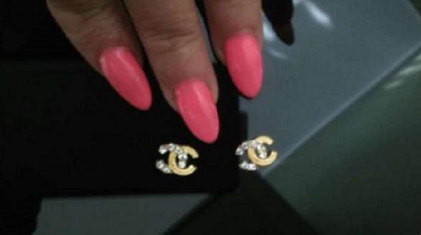 Pozostałe Ozdoby do paznokci Chanel 2szt