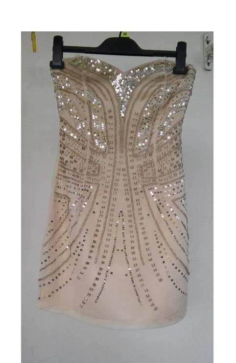 2caa280f2f HM złota nude r 36 sukienka cekiny sylwester w Suknie i sukienki ...