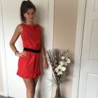 Czerwona sukienka firmy Zara