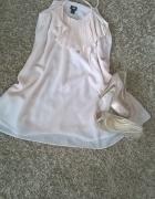 zwiewna sukienka h&m nude