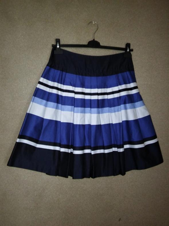 Spódnice Rozkloszowana spódnica midi w pasy 38 H&M