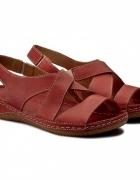 Skórzane sandałki...