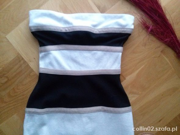 Suknie i sukienki Pasiasta sukienka River Island rozm 34