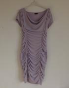 Nowa fioletowa sukienka marszczona 32 34...