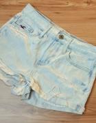 HOLLISTER jeansowe szorty spodenki jasne XS...