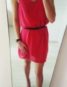 Sukienka malinowa asymetryczna Vila xs