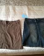 jeansowe spódnice XL