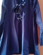 koszula h&m L zara asos wiązana sznurowana tunik...