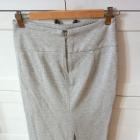 Szara ołówkowa spódnica midi S 36 Zara