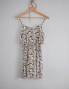Letnia sukienka H&M modna z falbaną...