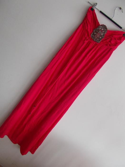 Suknie i sukienki Maxi sukienka różowa dla wysokiej