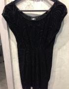 sukienka XS h&m welurowa wzory