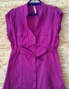 fioletowa koszula z paskiem house
