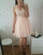 Sukienka Regard pudrowy róż łososiowa rozmiar 36