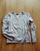 sweter kardigan szary popiel nowy H&M na guziki XL