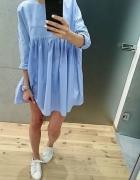Sukienka ZARA niebieska baby blue 34 XS...
