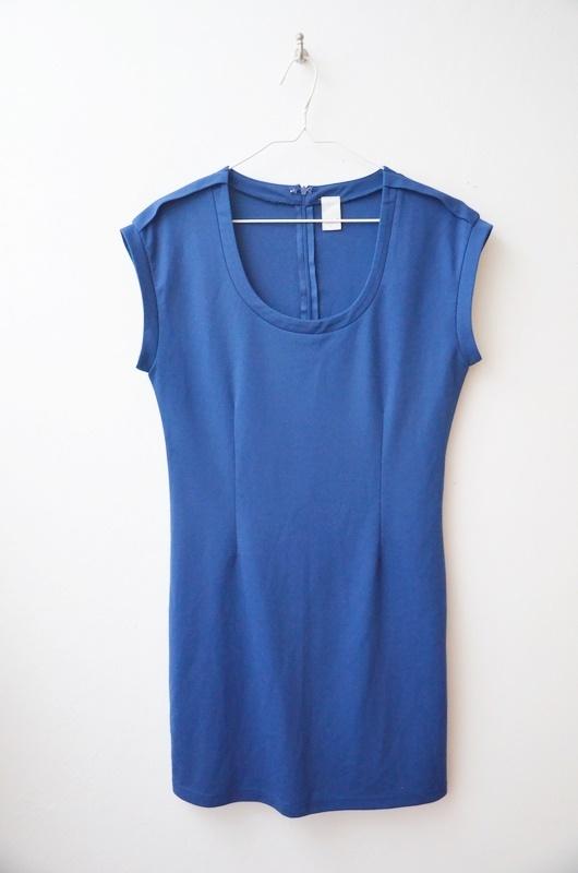 Suknie i sukienki Vila niebieska sukienka dresowa ołówkowa 38 40