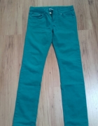 Seledynowe spodnie 36