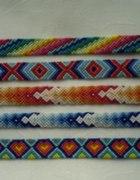 Kolorowe bransoletki przyjaźni z muliny