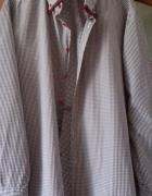 koszula w bordową kratkę 45