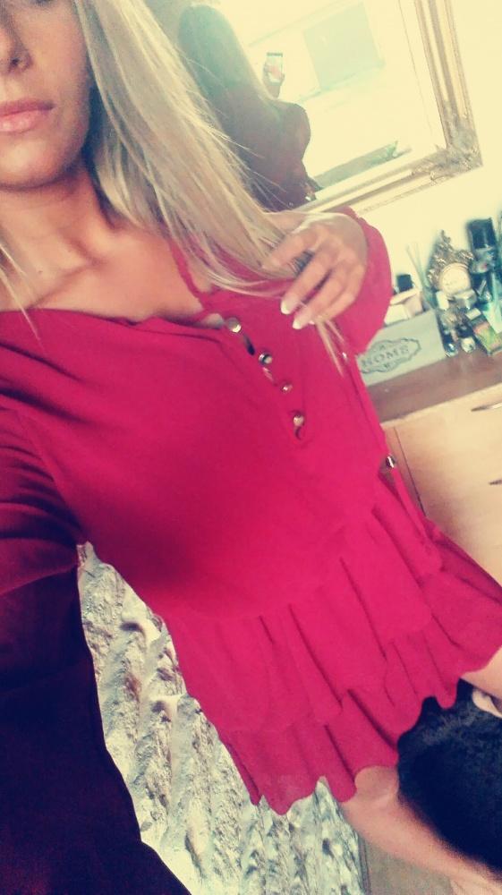 Suknie i sukienki Sukienka bordowa sm długi rękaw