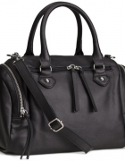 Torba kuferek kufer torebka czarna H&M eco skóra