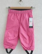 Różowe wiatroszczelne i wodoodporne spodnie 80...