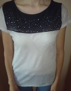 koronkowa bluzka mgiełka rozcięcie na plecach Pimk