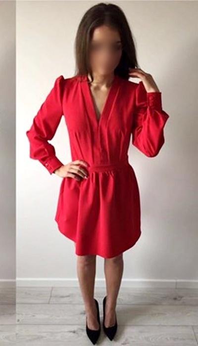 81be5c9c2f Sukienka elegancka czerwona wizytowa w Suknie i sukienki - Szafa.pl