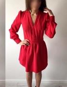 Sukienka elegancka czerwona wizytowa