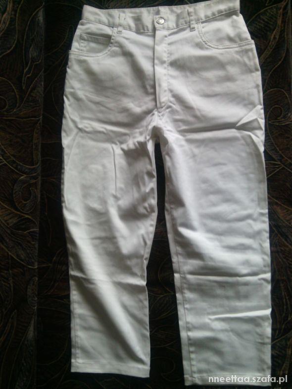 Spodnie PROMOD spodnie białe rurki