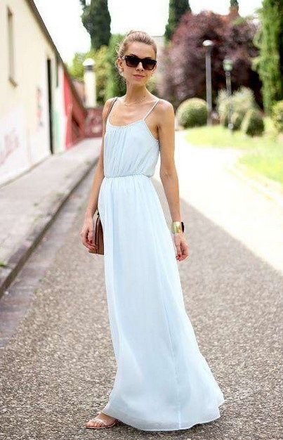Suknie i sukienki ZARA baby blue maxi sukienka koronka 34