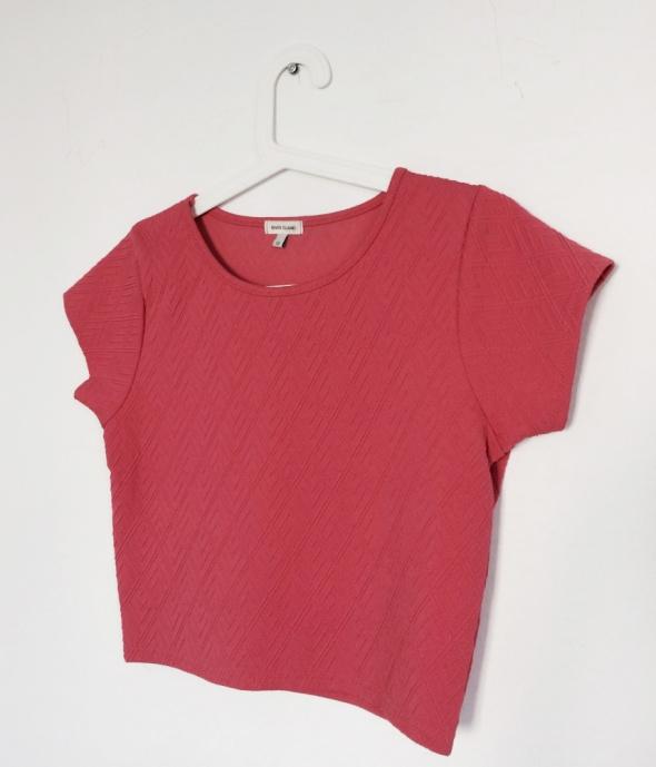 Bluzki Różowy pikowany top bluzka River Island