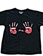 koszulka z łapami punk glam rock emo gothic sexi