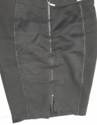 Spódnica czarna z zamkiem z przodu MOHITO