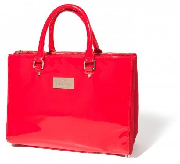 Dodatki czerwona torebka kuferek mohito kupie