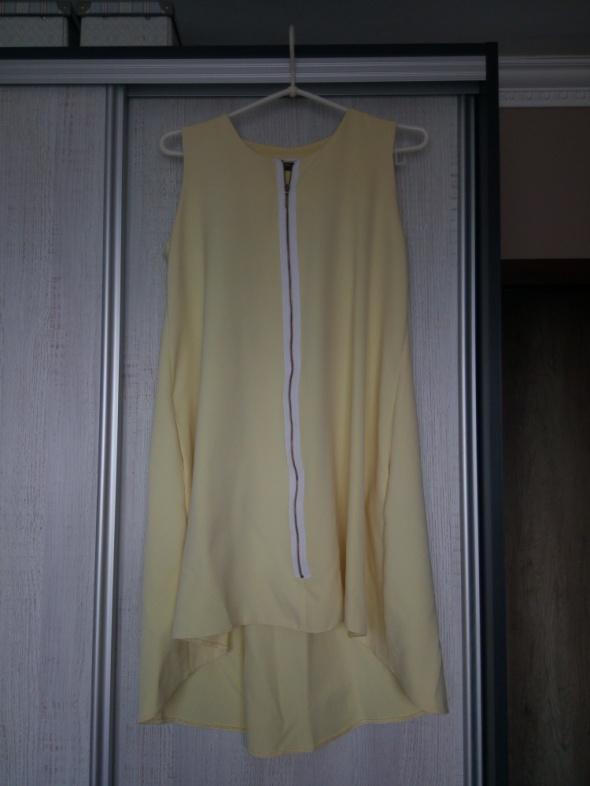 Suknie i sukienki Śliczna żółta zwiewna sukienka