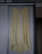 Śliczna żółta zwiewna sukienka