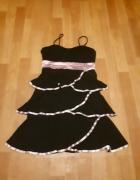 Sukienka z falbankami S M