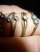 Pierścionki srebrne 4 szt