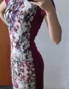 Piękna burgundowa sukienka