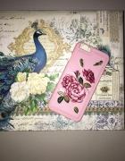Etui na iPhone 6 lub 6s różowy haftowany
