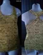Bluzka żółta z napisami