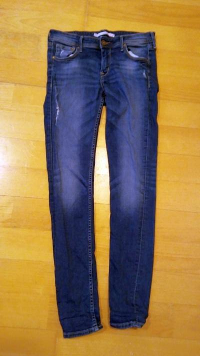 Spodnie Jeansy niebieskie rurki