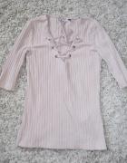 sznurowana bluzka pudrowa Only XS S
