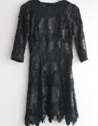 Zara sukienka koronkowa edycja limitowana S