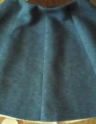 Rozkloszowana piankowa niebieska spódnica S M...